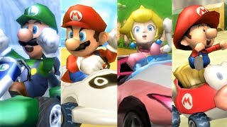 Mario Kart Wii - All Characters Winning Animations