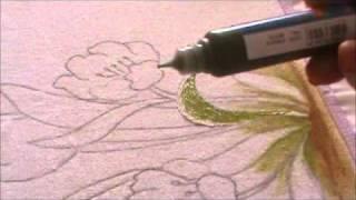Pintura em Pano de Copa com a tinta Pinta Tecido