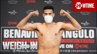 Benavidez vs. Angulo: Weigh-In | SHOWTIME CHAMPIONSHIP BOXING x Morning Kombat