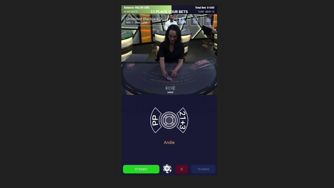Unlimited BlackJack 3.0 in Mobile by Ezugi