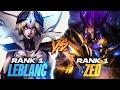 Perfecting my Leblanc vs Rank 1 Zed in Challenger