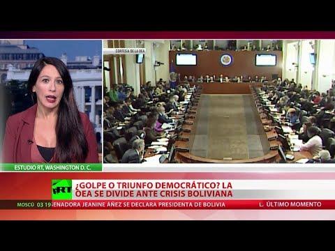 ¿Golpe o triunfo democrático? La OEA se divide ante la crisis boliviana