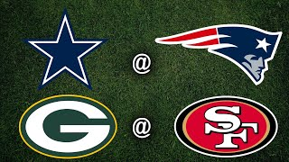 Cowboys vs Patriots | Packers vs 49ers|  Live Play-By-Play & Reactions