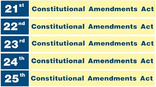 E 5: Constitutional Amendments Act 21 to 25   Plus Pramesh eLib