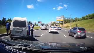 Неадекваты за рулем, приколы на дороге 2018