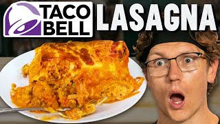 Making A Giant Taco Bell Lasagna