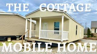 This Little Cottage Mobile Home Reminds Me Of A Tiny House!! Attached Porch And More On The Inside.
