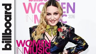 """Madonna Ready to """"Make a Stand & Speak My Mind"""" After Clinton Loss   Billboard Women in Music 2016"""