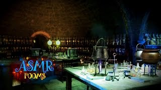 Harry Potter Inspired ASMR - Snapes Potion Classroom - Ambience And Animations - Potion Boiling