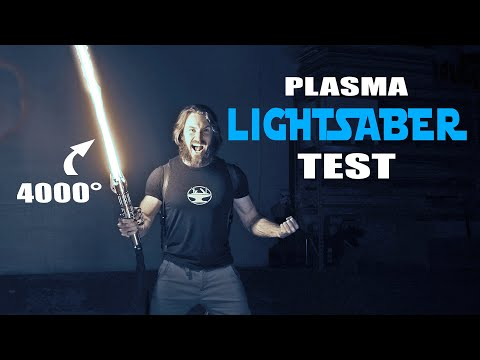 4000° LIGHTSABER TEST (CUTS ANYTHING!)
