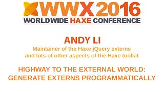 """Highway to the external world: Generate externs programmatic"" by Andy L"