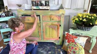 Funky Painted Cabinet Tutorial Day 2