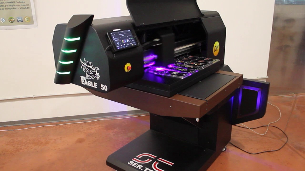 Eagle UV 50 stampa su cover nere