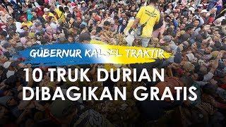 Viral Rekor Gubernur Kalsel Traktir 24 Ribu Durian, Dibagikan Gratis
