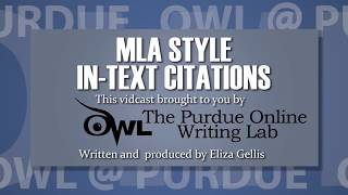 MLA Style: In-Text Citations (8th Ed., 2016)