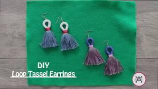 DIY Loop Tassel Earrings - Maria Antoinette TV