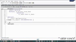 First Object Oriented Programming in SAP ABAP