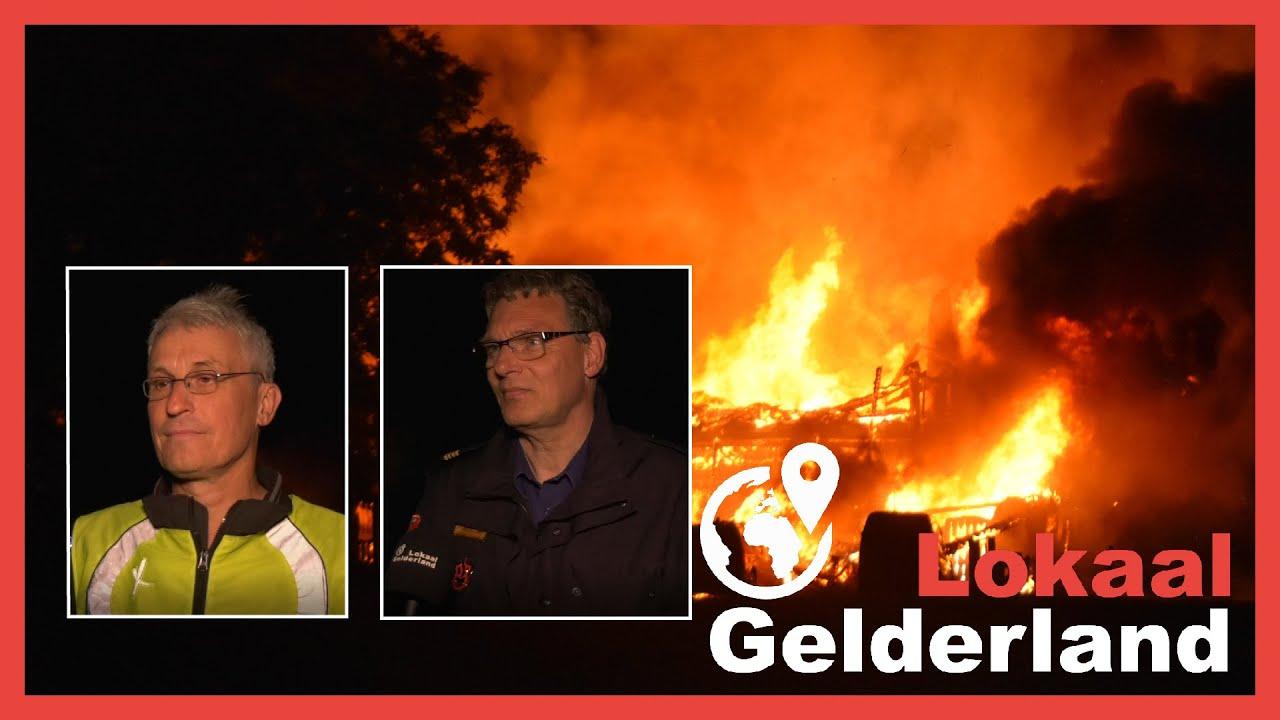 Verwoestende brand in Almen