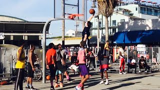 INTENSE GAME vs STRANGERS ENDS WITH INSANE 360 EASTBAY DUNK!!