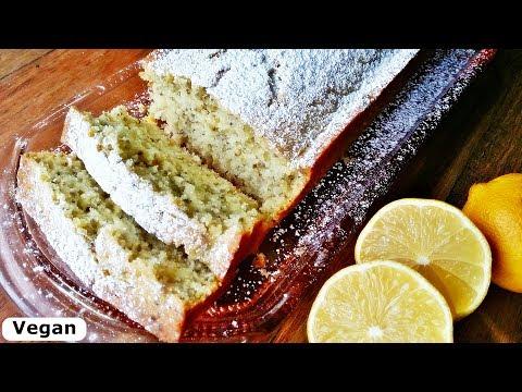 Rezept: Zitronenkuchen mit Chia-Samen / Vegan / Lemon Cake