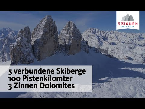 5 verbundene Skiberge - 3 Zinnen Dolomites