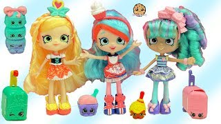 Season 8 World Vacation Shopkins Shoppies dolls Spaghetti Sue + Macy Macaron + Surprise Blind Bags