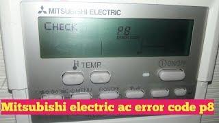 Mitsubishi ac error code p8