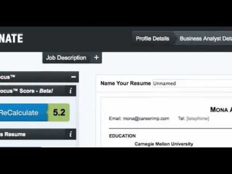 Resunate Is A Smart, Automatic Resume Builder