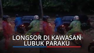 Jalan Padang-Solok Tertutup Longsor di Lubuk Paraku Kecamatan Luki, Tim BPBD Kota Padang ke Lokasi