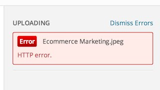 How To Fix Wordpress HTTP Error While Uploading Media Or Files