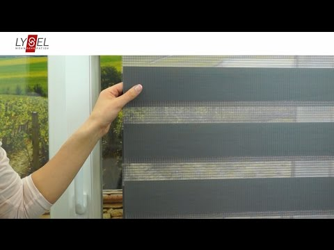 LYSEL® Schiebegardine in Doppelrollo Optik - Montageanleitung