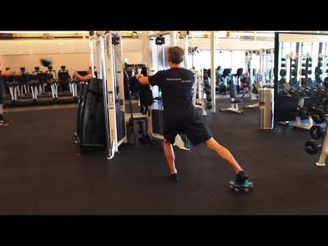 Reverse Lunge High Cable Row