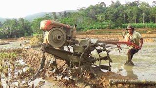 Amatir...!! Mencoba mengemudikan Traktor Sawah (Amateur..!! drive the tractor)