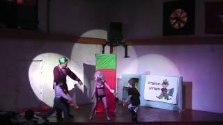 מופע הקרקס שהתקיים במועדון הצעירים ״המכון״ לקהל ילדי א׳-ו׳ (החינוך הבלתי פורמלי).