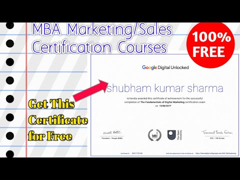 MBA Marketing/Sales Certification Courses | Grow Your Skills ...