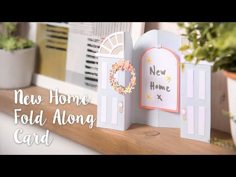New Home Folding Door Card- Sizzix