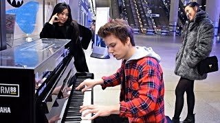 "Video thumbnail of ""DANCE MONKEY METRO STATION PIANO PERFORMANCE LONDON"""
