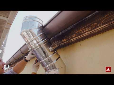 Montaj cos de fum din inox pe exterior – Schiedel ICS