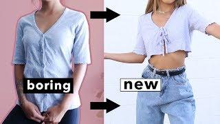 DIY NO-SEW HACKS FALL EDITION | Transforming Old Boring Clothes!