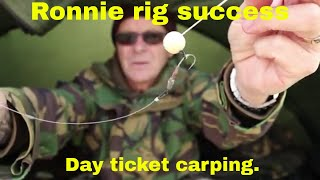 Ronnie Rig Success, Day Ticket Carp Fishing.