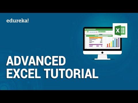 Advanced Excel Tutorial | Excel Training | Edureka - YouTube