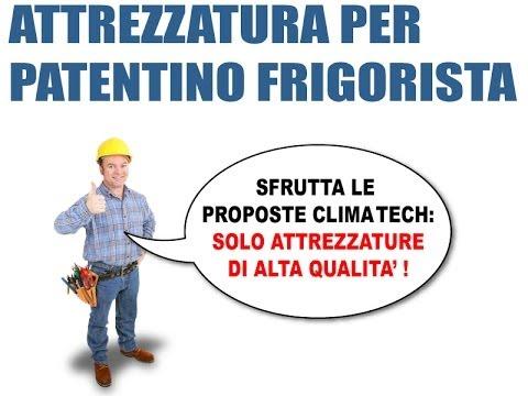 attrezzatura e strumenti conformi per patentino frigorista
