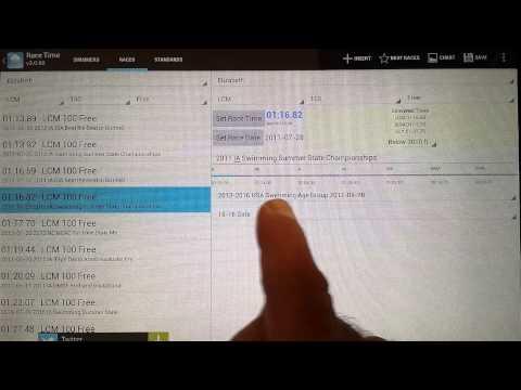 Video of MySwimmingTimes