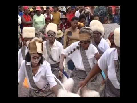 Lesotho women performing a traditional dance