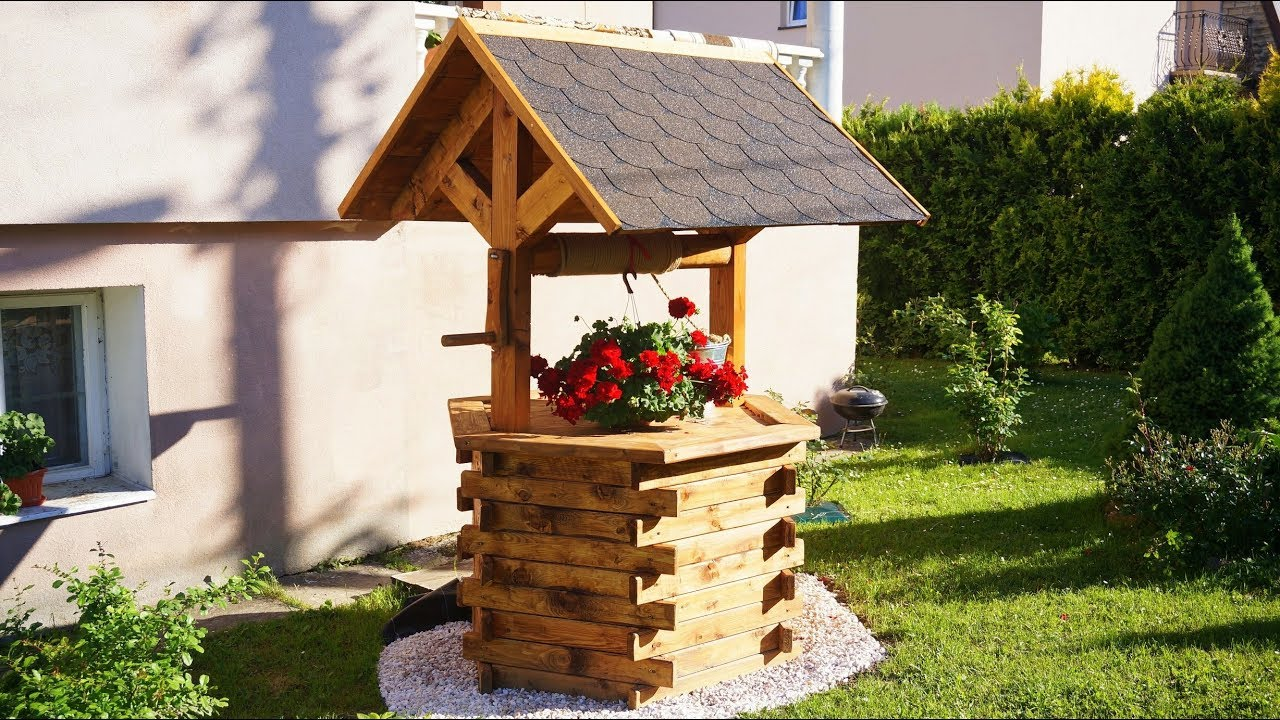 15 diy wishing well plans to add charm to your garden or