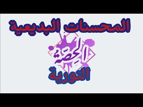 talb online طالب اون لاين لغة عربية | بلاغة | المحسنات البديعية | التورية محمد عبدالمنعم