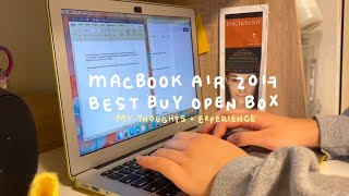 my experience with BEST BUY OPEN BOX | macbook air 2017 student review