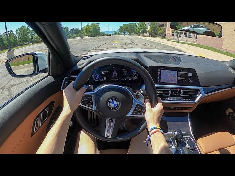 2021 BMW 330e - POV Test Drive (Binaural Audio)