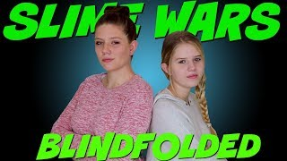 SLIME WARS MAKING DIFFICULT SLIMES BLINDFOLDED || Taylor and Vanessa