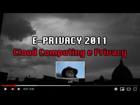 immagine di anteprima del video: e-privacy 2011 prima parte: Big Brother Award Italia